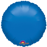 "18"" Metallic Blue Round Foil Balloon"