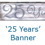 25th Silver Anniversary 5 Yard Banner