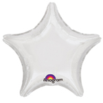 "19"" White Star Foil Balloon"