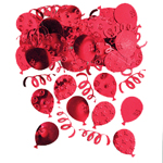 Ruby Red Party Balloons Confetti