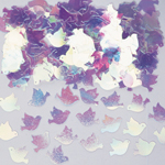 Irridescent Dove  Metallic Confetti