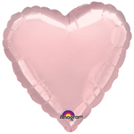 "18"" Pale Pink Heart Foil Balloon"