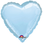 "18"" Pale Blue Heart Foil Balloon"