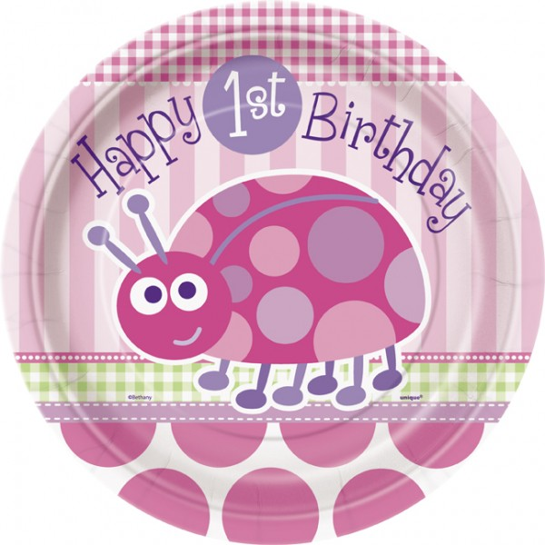 Happy First Birthday Ladybug Girl - Balloon and Party 2017