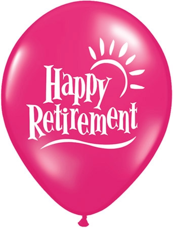 "Happy Retirement 11"" Latex Balloon (10)"