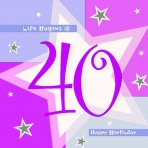 40th Pink Shimmer Lunch Napkin (16)