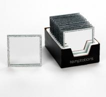 Large Square Mirror with Jewels
