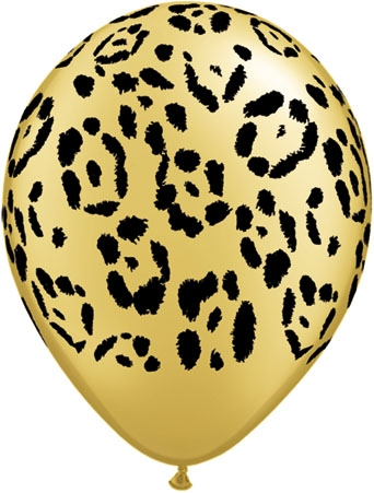 "Safari Cheetah 11"" Latex Balloon (10)"