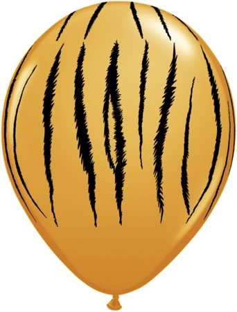 "Safari Tiger 11"" Latex Balloons (10)"