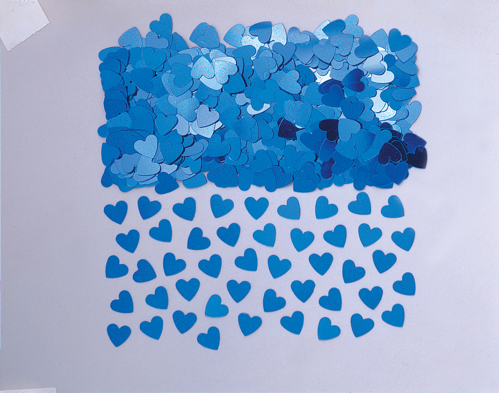 Blue Sparkle Heart  Metallic Confetti
