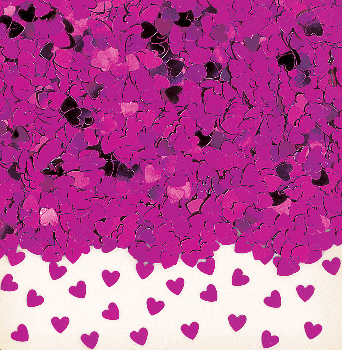 Hot Pink Sparkle heart Metallic Confetti