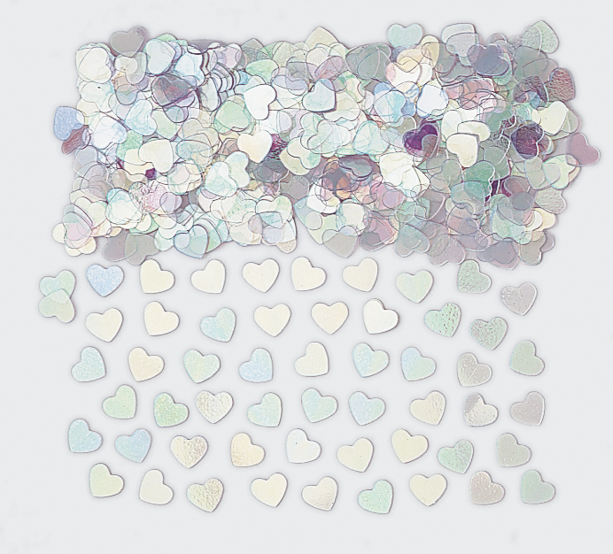 Irridescent Sparkle Heart Metallic Confetti