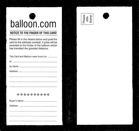 Balloon Race Tickets (10)