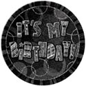 Black Glitzy 'ITS MY BIRTHDAY' Badge