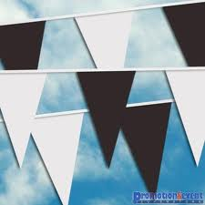 Black & White Pennant Bunting