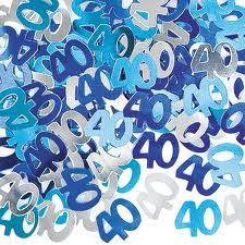 40th Blue/Silver Metallic Confetti