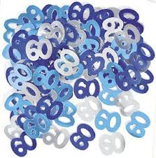 60th Blue/Silver Metallic Confetti