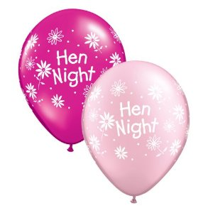 "Hen Night Daisy Design 11"" Latex Balloons (10)"
