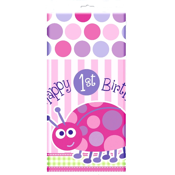 Happy 1st Birthday Ladybug Table Cover