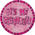 "Pink Glitzy ""ITS MY BIRTHDAY""Badge"
