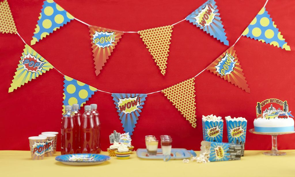 Pop Art Party Paper Bunting