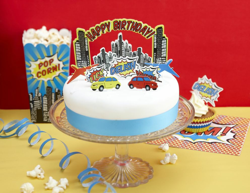 Pop Art Party Cake Decorating Kit