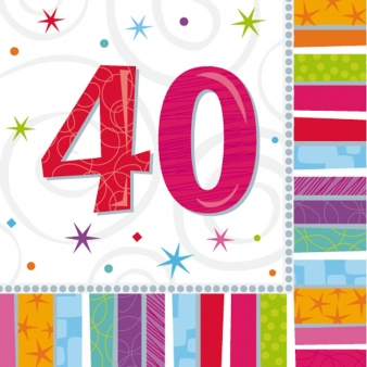 40th Radiant Lunch Napkin