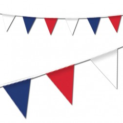Red, White & Blue Pennant Bunting