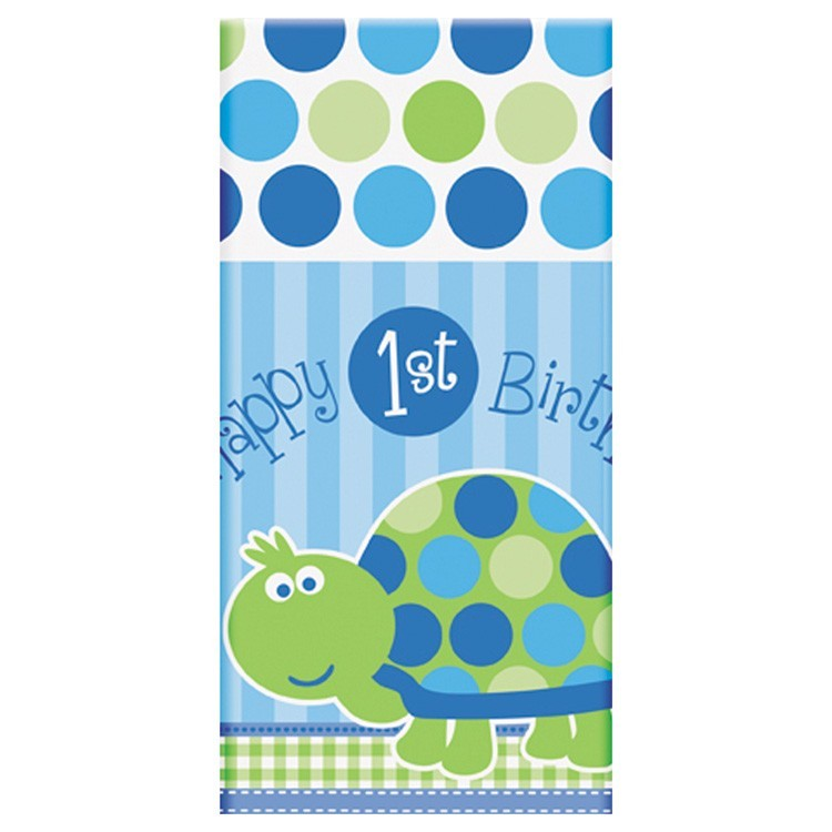 Happy 1st Birthday Turtle Table cover