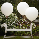 "Huge 36"" Balloons White (3)"