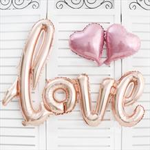 Rose Gold Love Script Foil Balloon