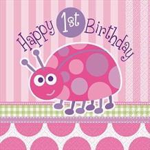 Happy First Birthday Ladybug Girl