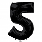 Supershape Black No 5 Balloon