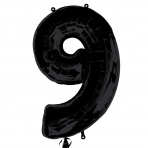 Supershape Black No 9 Balloon