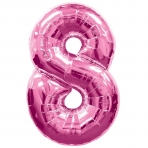 Supershape Pink No 8 Balloon