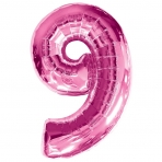 Supershape Pink No 9 Balloon