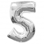 Supershape Silver No 5 Balloon
