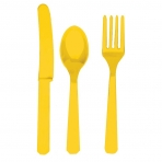 Yellow Cutlery (For 6)